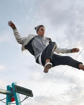 Mann-springen
